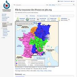 Le royaume des Francs en 561