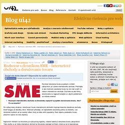 Rozhovor s denníkom SME - Internetové obchody a doručovanie tovaru - blog ui42
