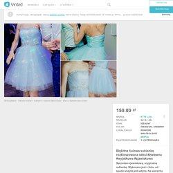 Błękitna tiulowa sukienka rozkloszowana seksi #zwiewna #wyjatkowa #zjawiskowa - vinted.pl