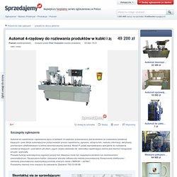 Automat 4-rzędowy do rozlewania produktów w kubki i zgrzewania - Sprzedajemy.pl