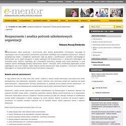 Rozpoznanie i analiza potrzeb szkoleniowych organizacji