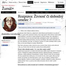 Rozprava: Živnosť či slobodný umelec ? / dominika.vavrekova / SAShE.sk