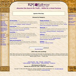 RPG Gateway: Role Playing Games