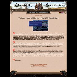 RPG-SoundMixer - The new PnP RPG Experience