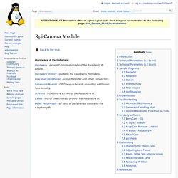 Rpi Camera Module