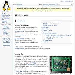 RPi Hardware
