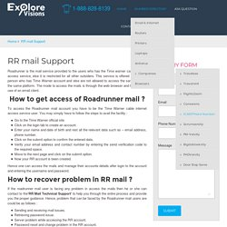 RR Mail Technical Support