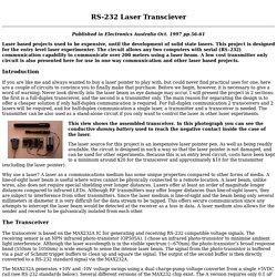RS-232 Laser Transceiver