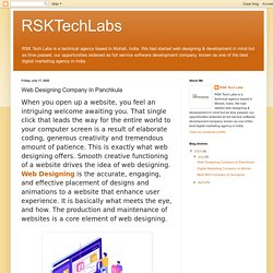 RSKTechLabs: Web Designing Company In Panchkula