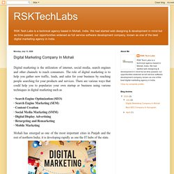RSKTechLabs: Digital Marketing Company In Mohali