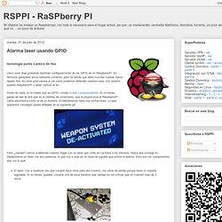 RSPPI - RaSPberry PI: Alarma laser usando GPIO