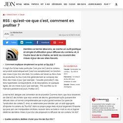 RSS : qu'est-ce que c'est, comment en profiter