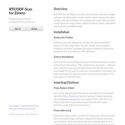 RTF/ODF-Scan for Zotero by Zotero-ODF-Scan