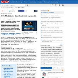 Online tv mediatheken pearltrees for Rtl spiegel tv mediathek