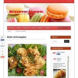 Ruže od krompira - kreativni recepti