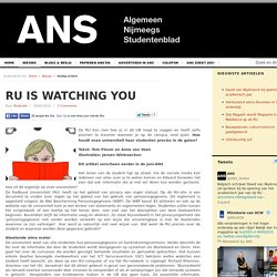 RU is watching you