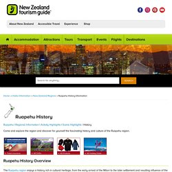 Ruapehu New Zealand History Information, Historical Places in Ruapehu NZ