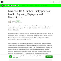 Low-cost USB Rubber Ducky pen-test tool for $3 using Digispark and Duck2Spark