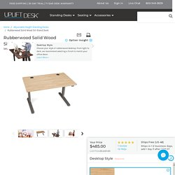Rubberwood Solid Wood Sit-Stand Desk