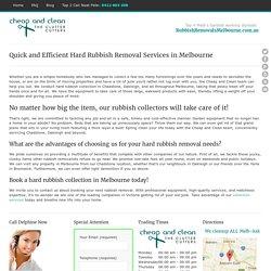 Hard Rubbish Removal Melbourne