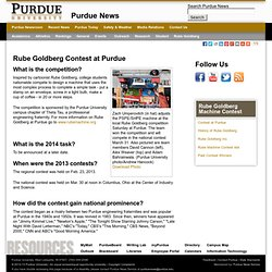 Newsroom - Rube Goldberg Contest at Purdue