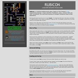 Rubicon : A Machine-Building Puzzle Game