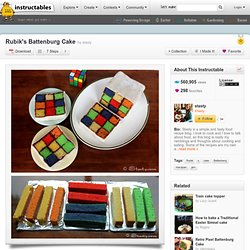 Rubiks Battenburg Cake - StumbleUpon