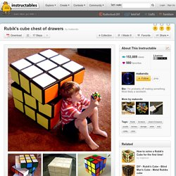 Rubik's cube chest of drawers