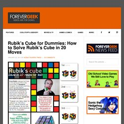 Rubik's Cube for Dummies: How to Solve Rubik's Cube in 20 Moves