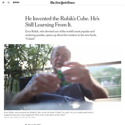 Rubik's Cube Inventor Opens Up About His Creation in New Book 'Cubed'