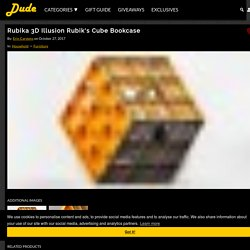 Rubika 3D Illusion Rubik's Cube Bookcase