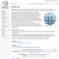Rubiks Uhr