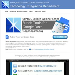 2015-10-06 - Rubric Tools for Google Docs - Technology Integration