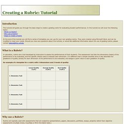 Rubric Tutorial