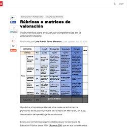 Rúbricas o matrices de valoración