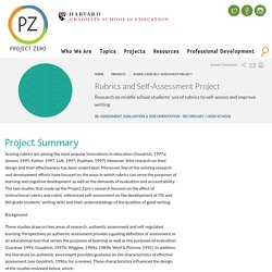 Rubrics and Self-Assessment Project