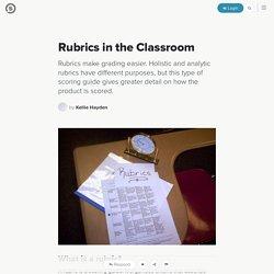 Rubrics in the Classroom