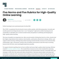 Five Norms and Five Rubrics for High-Quality Online Learning