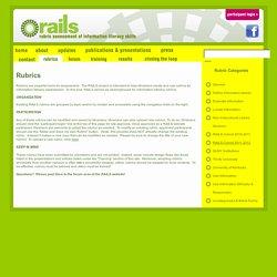 Rubrics - RAILS