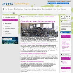 SEPPIC -Rubrique – Conseils en formulation