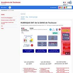 RUBRIQUE ENT de la DANE de Toulouse - DANE - Académie de Toulouse