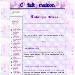 Rubrique Divers : Pliage de Serviettes, Etiquettes, Produits de Beauté, Savons, Lessives
