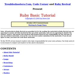 Ruby Basic Tutorial