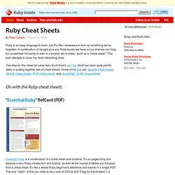 Ruby Cheat Sheets