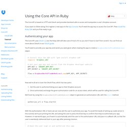 Ruby Core API - Dropbox