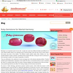 Ruby Gemstone For Marital Harmony