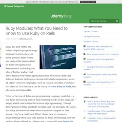 Ruby Modules: What You Need to Know to Use Ruby on Rails