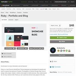 Ruby - Portfolio and Blog