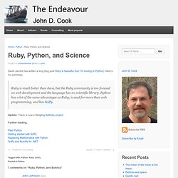 Ruby, Python, and Science