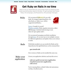 Ruby on Rails: Download